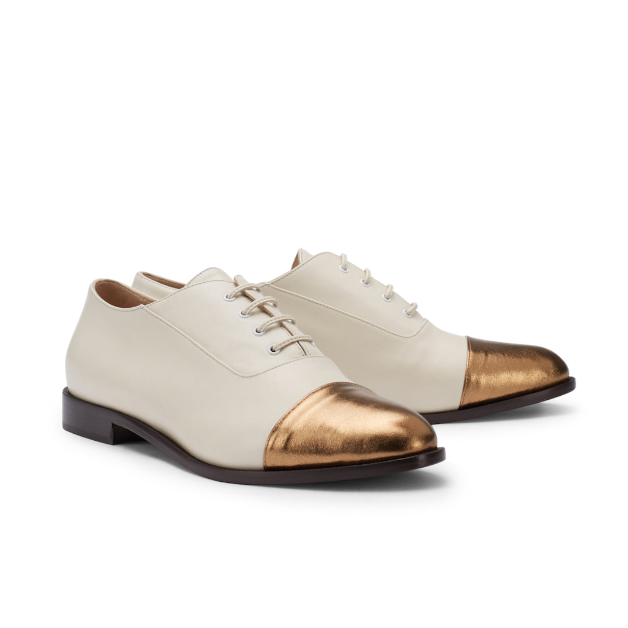 Intramontabile Footwear - Schnürer PAGE offwhite/gold