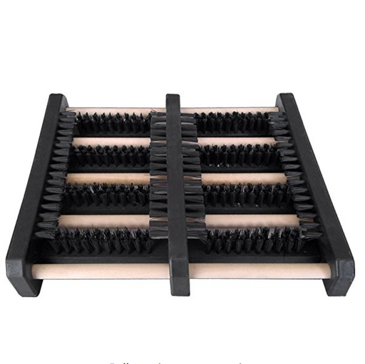 JobSite Boot Scrubber Brush Mat - Wood & High Density Plastic Construction - Scrub & Scrape Muddy Shoes