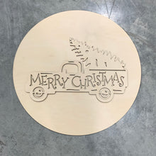 Merry Christmas Truck with Tree DIY kit