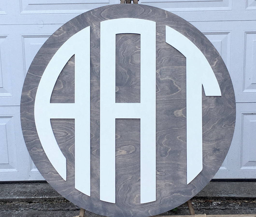 Layered Monogram Round