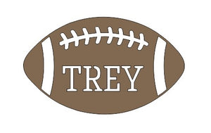 Football with Name Cutout