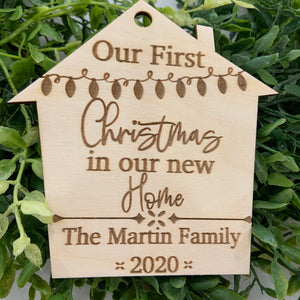 New Home Personalized Christmas Ornament