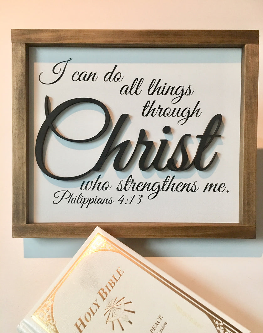 Philippians 4:13 Framed Sign