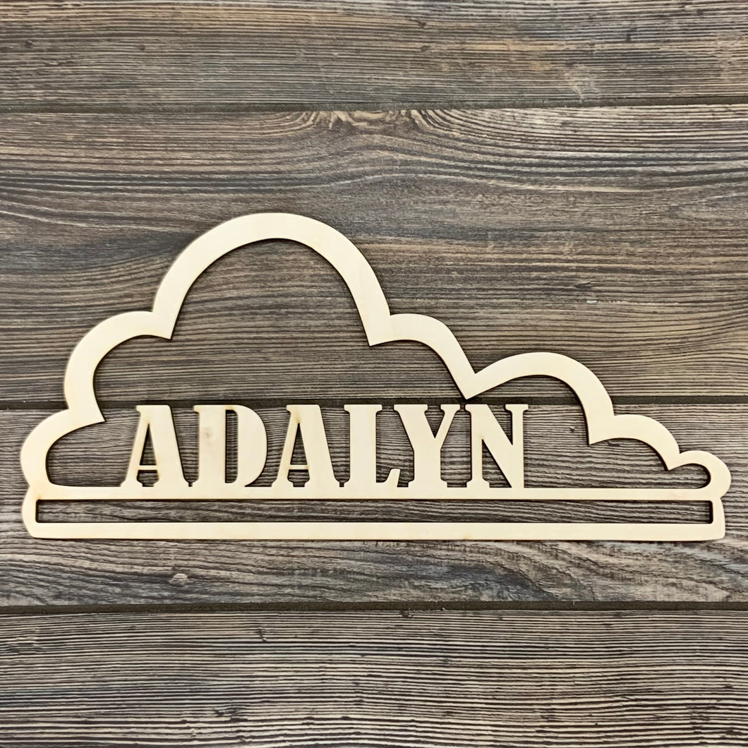 Personalized Cloud Bow Holder