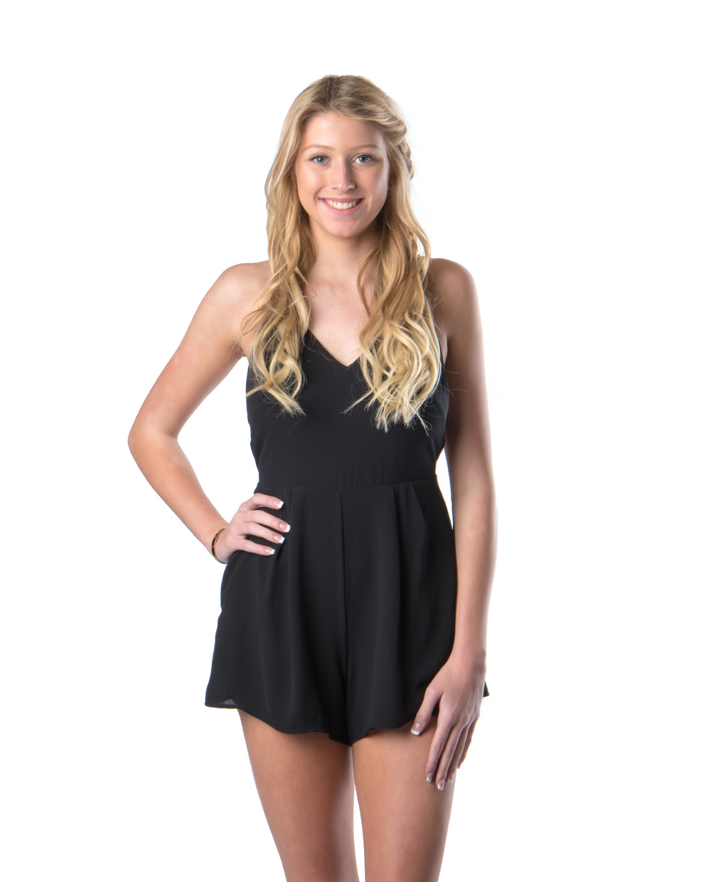 Back to Black Romper