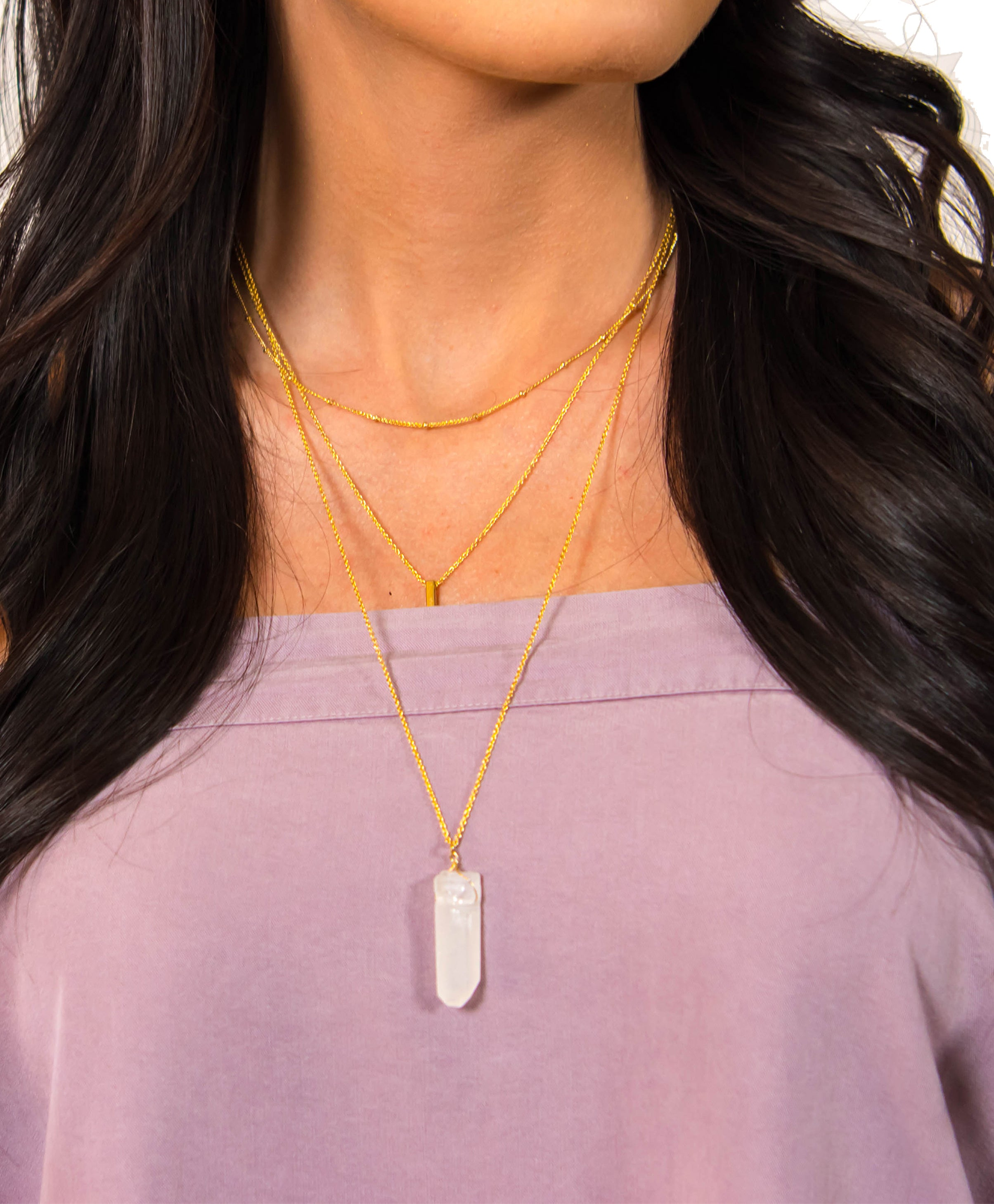 Crystal Layered Necklace | Accessories | Bailey Nicole - Women's Clothes for All Occasions