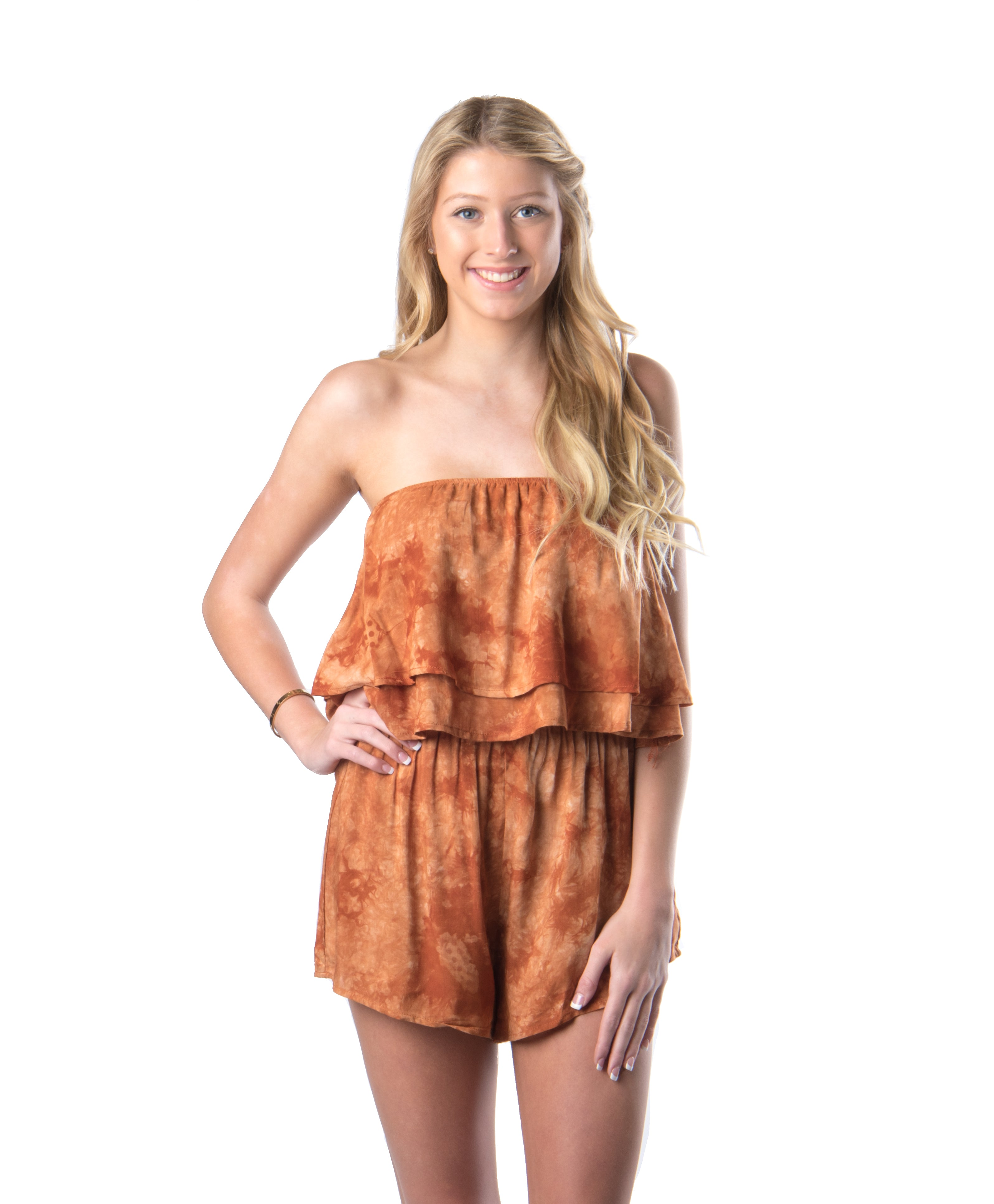 Longhorn Romper | Game Day | Summer Fashion | Bailey Nicole