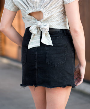 On The Run Denim Skirt | Summer Fashion | Night Out | Bailey Nicole