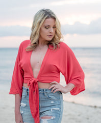 Red Hot Wrap Top | Summer Fashion | Fourth of July | Summer Tops | Bailey Nicole