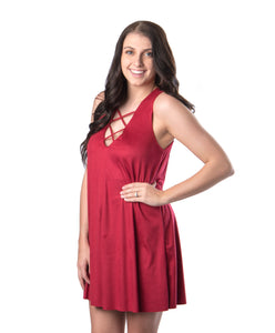 Red Rose Dress | Game Day | Bailey Nicole