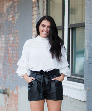 Rivers & Roads Leather Shorts | Fall Fashion | Holiday Wear | Bailey Nicole