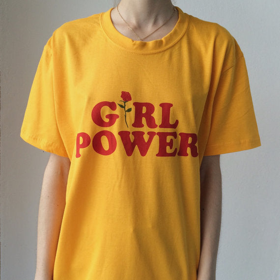 'GRL Power' Rose T-Shirt
