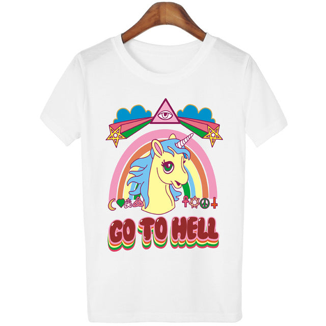 'Moody Unicorn' T-Shirt (Various Colors)