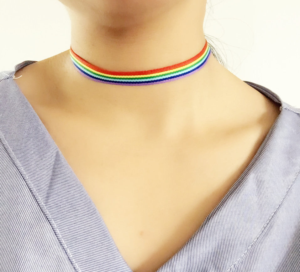 Pride Ribbon Choker Necklace
