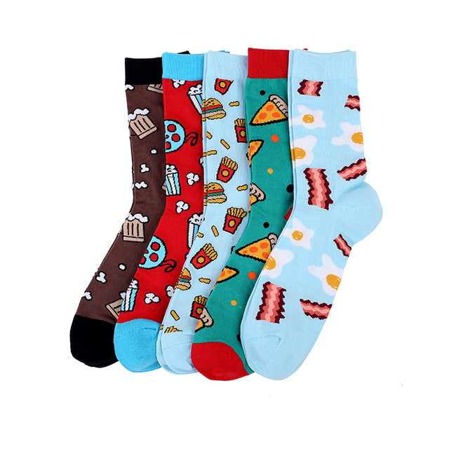 'Junk Food Weekend' | Gift-Boxed 5 Pair Socks