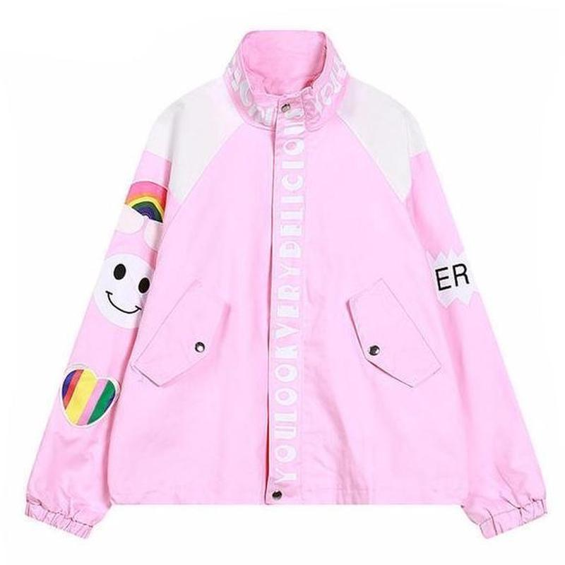 'Rainbow Dreams' Windbreaker Jacket ( 3 Colors )