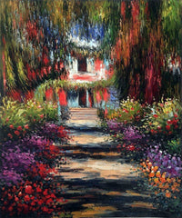 Garden Path at Giverny - Claude Monet