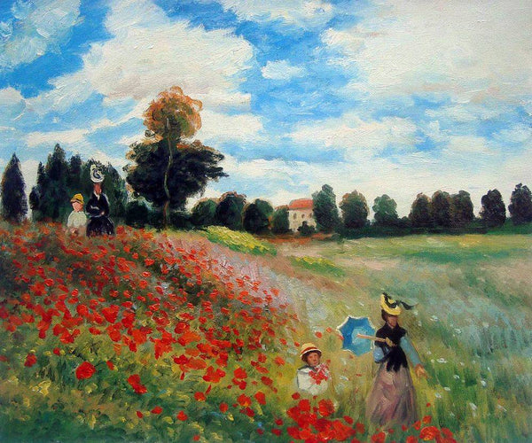 Poppy Field in Argenteuil - Claude Monet - Nova Paintings
