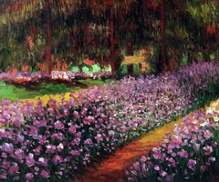 Artist's Garden at Giverny - Claude Monet