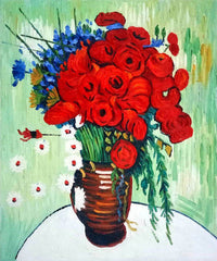 Vase with Daisies and Poppies - Vincent Van Gogh
