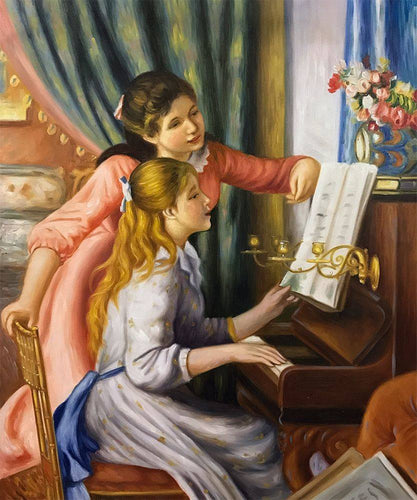 Young Girls at the Piano - Pierre-Auguste Renoir