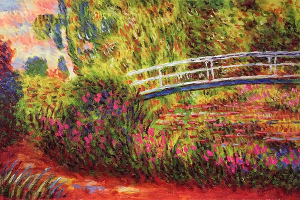 The Japanese Bridge (The Water-Lily Pond, Water Irises) - Claude Monet - Nova Paintings