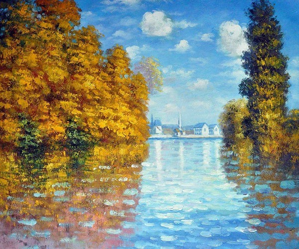 Autumn at Argenteuil - Claude Monet - Nova Paintings