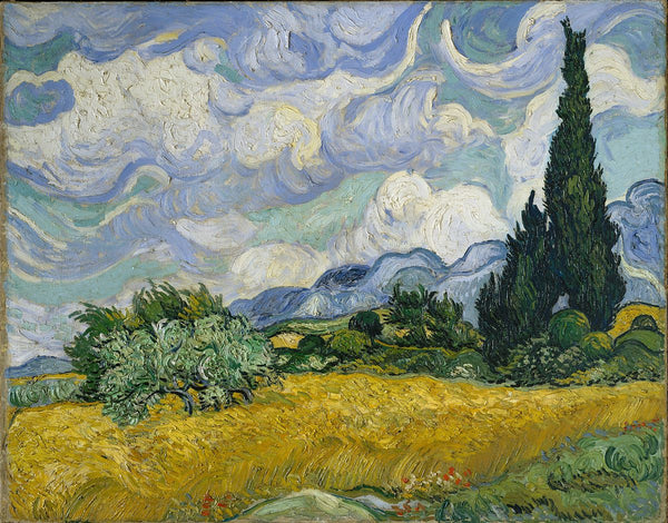 Wheat Field with Cypresses - Vincent Van Gogh - Nova Paintings