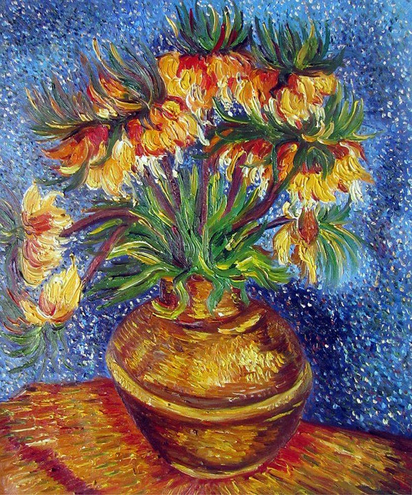 Crown Imperial Fritillaries in a Copper Vase - Vincent Van Gogh - Nova Paintings
