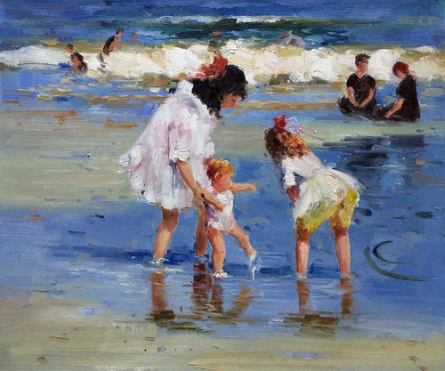 Children Playing at the Seashore - Edward Henry Potthast