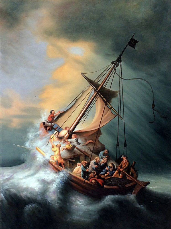 Christ in the Storm - Rembrandt - Nova Paintings