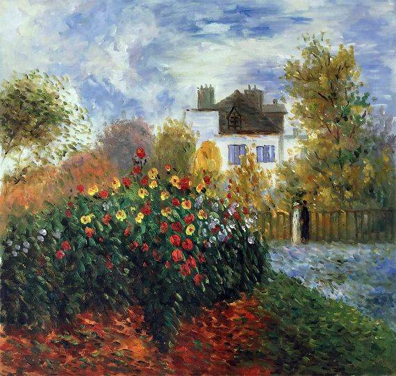 The Garden of Monet at Argenteuil - Claude Monet - Nova Paintings