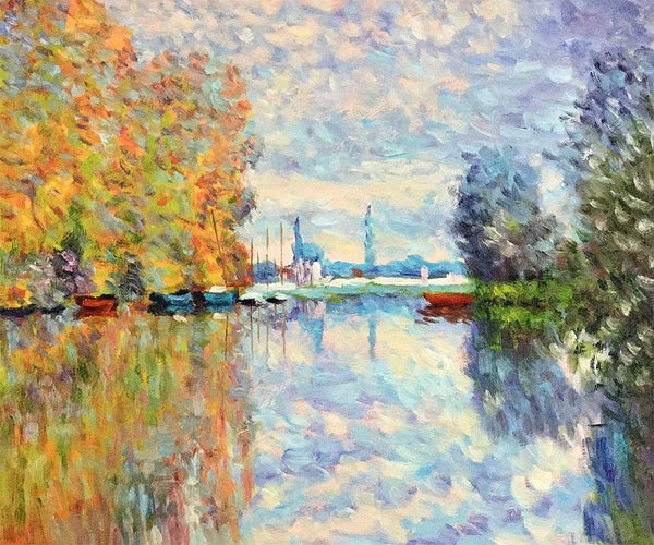 Autumn on the Seine at Argenteuil - Claude Monet - Nova Paintings