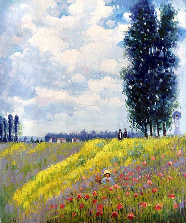 Walk in the Meadows at Argenteuil - Claude Monet - Nova Paintings