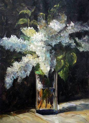Lilacs in a Vase - Edouard Manet