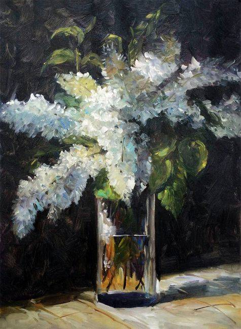 Lilacs in a Vase - Edouard Manet - Nova Paintings