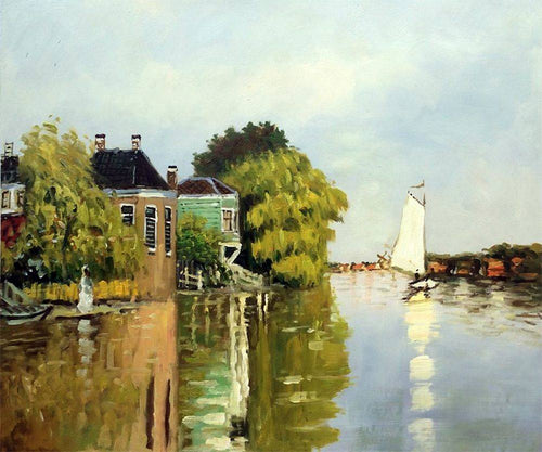 Houses on the Achterzaan - Claude Monet