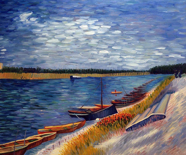 Moored Boats - Vincent Van Gogh - Nova Paintings