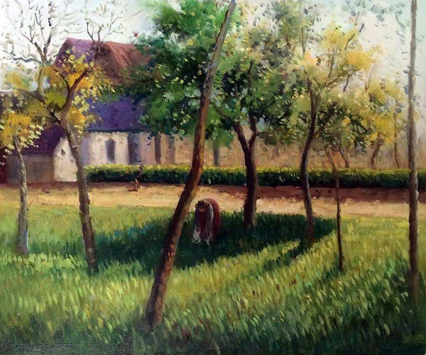An Enclosure in Eragny - Camille Pissarro