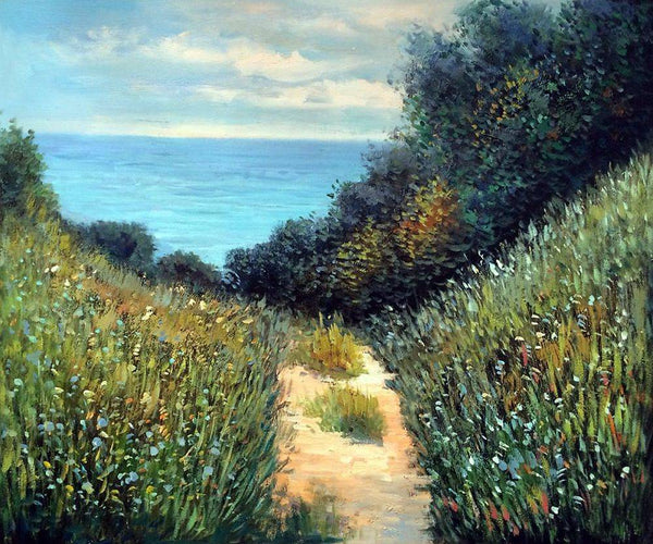 Path at La Cavee, Pourville - Claude Monet - Nova Paintings