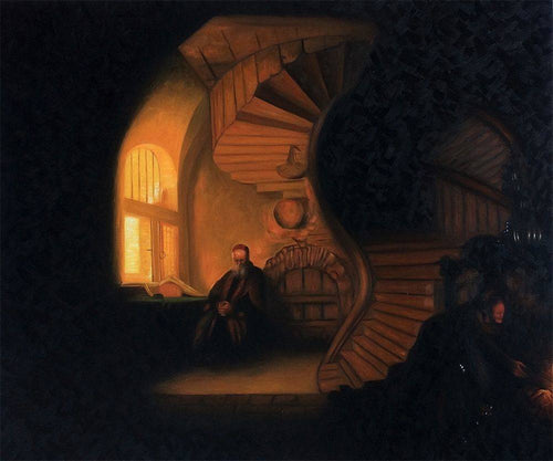 The Philosopher in Meditation - Rembrandt