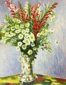 Bouquet of Gladiolas, Lilies and Dasies - Claude Monet