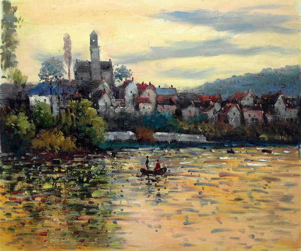 The Seine at Vetheuil - Claude Monet - Nova Paintings