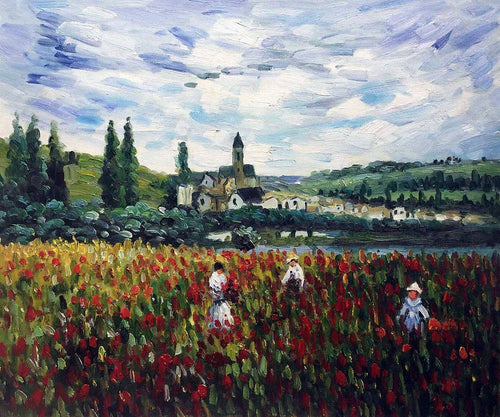 Flowers at Vetheuil - Claude Monet
