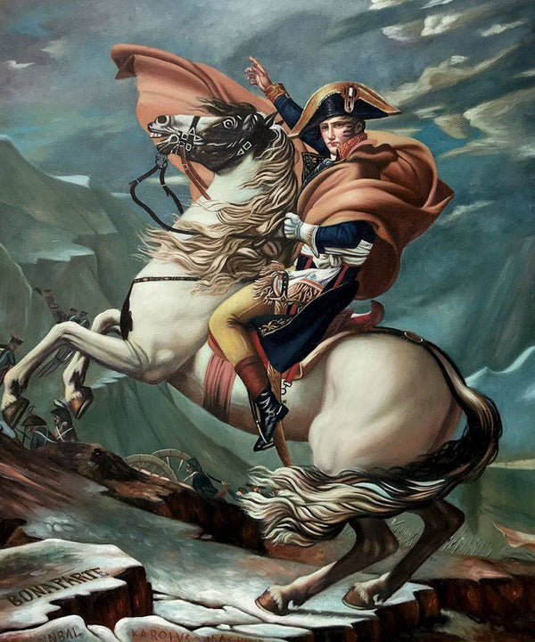 Napoleon Crossing the Alps - Jacques-Louis David - Nova Paintings