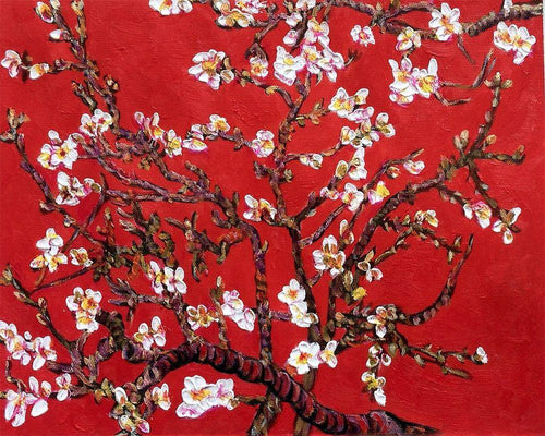 Branches of an Almond Tree in Blossom, Ruby Red - Vincent Van Gogh