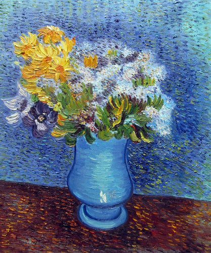 Vase with Lilacs, Daisies and Anemones - Vincent Van Gogh