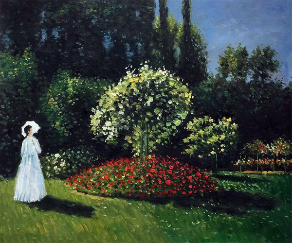 Jeanne-Marguerite Lecadre (Lady in a Garden) - Claude Monet - Nova Paintings