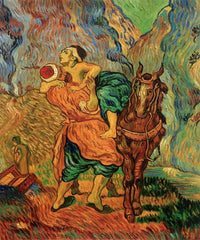 The Good Samaritan (After Delacroix) - Vincent Van Gogh