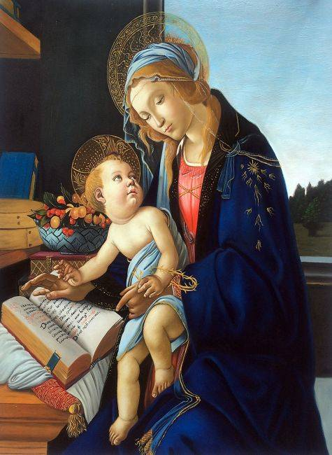 Madonna of the Book - Botticelli - Nova Paintings